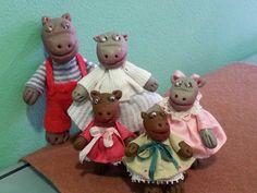 Familia de hipopótamos por Inés Moreno