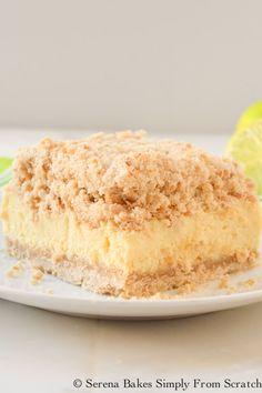 Key Lime Cheesecake Crumb Bars