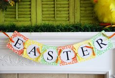 easter-mantel-decorating