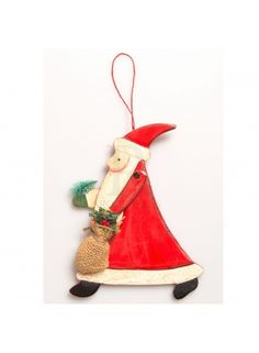 Nordic Santa With Ivy Hanging Decoration - 22869  5a54354487b2