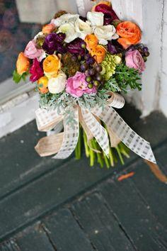Summer Bouquet Ideas, Wedding Flowers Photos by April + Paul Photography