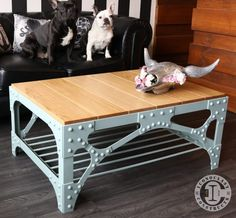 Want to make a coffee table ? We've collected our favorite homemade diy coffee table ideas to give you inspiration furniture coffee tables and encouragement to give it a try. Welded Furniture, Industrial Design Furniture, Iron Furniture, Steel Furniture, Deco Furniture, Recycled Furniture, Unique Furniture, Rustic Furniture, Furniture Design