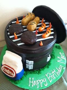 My brother Marc's BBQ Birthday cake!