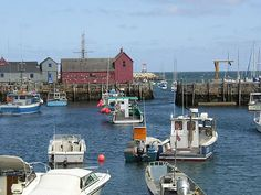 Rockport inner harbor showing lobster fleet and Motif #1