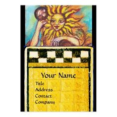 TAROTS OF THE LOST SHADOWS 19 / THE SUN LARGE BUSINESS CARD by Bulgan Lumini (c)  #tarot #psychicreader #psychics #fineart #artist #lion #nature