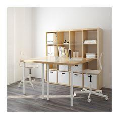 KALLAX Workstation - birch effect - IKEA for garage reno