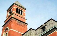 Tower at Kingston City Hall undergoing repairs