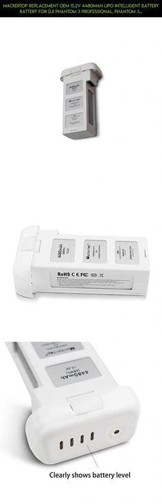 Mackertop Replacement OEM 15.2V 4480mAh LiPo Intelligent Battery battery for DJI Phantom 3 Professional, Phantom 3 Advanced and Phantom 3 Standard, 4K Drones #plans #standard #phantom #camera #3 #gadgets #technology #shopping #oem #drone #battery #tech #kit #products #parts #racing #dji #fpv