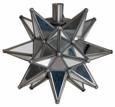 Mirrored star candle holder...