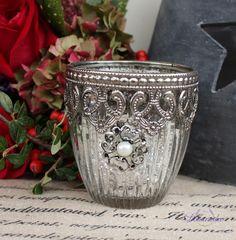 Sklenená lucernička Crown, malá
