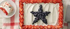 Red, white and blue -- all the way through! Layers of angel food cake, fresh berries and pudding -- a cool dessert to beat the summer heat.