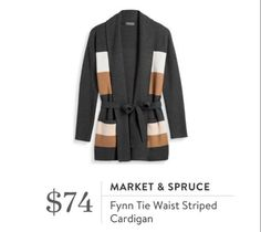 Stitch Fix October 2016 - Market & Spruce, Flynn Tie Waist Striped Cardigan