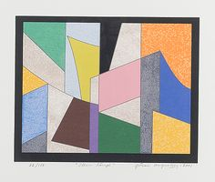Göran Augustson: Illan lämpö, 2001, serigrafia, 32x38 cm, edition 82/150 - Bukowskis Market 5/2016 Finland, Abstract Art, Auction, Quilts, Blanket, Quilt Sets, Blankets, Log Cabin Quilts, Cover