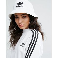 Check out this product: adidas Originals Logo Bucket Hat In White - White #villoid