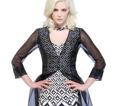 Melbourne Cup | Derby Day | Michaela Louisa dress and Jacket | Black + White classic style.