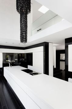 Kitchen Casa Murano By LEE+MIR--that counter looks like a bitch to keep clean, but it is beautiful.