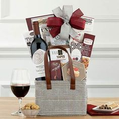 Wine Gift Baskets - Cabernet Wine Gift Holiday Gift Baskets, Wine Gift Baskets, Gourmet Gift Baskets, Holiday Gifts, Smoked Gouda Cheese, Sweet Cookies, Cheese Spread, Wine Gifts, Birthday Celebration