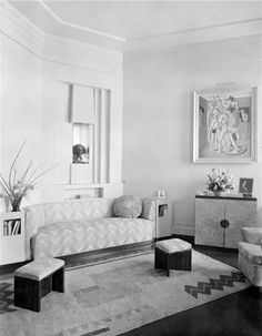 the living room at 7 cambridge terrace, regent's park circa 1932, photographed by alfred e henson.
