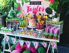 "Tropical / Birthday ""Taylor's 5th Tropical Party"" 