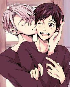 Awww Katsuki Yuuri and Victor Nokiforov being cuties