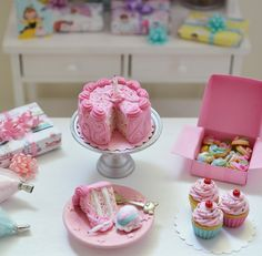 Sweet Petite Play Scale Vintage Birthday Cake by SweetPetiteShoppe