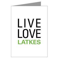 Live Love Latkes Greeting Cards (Pk of 10)
