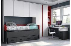 Youth bedroom / Youth bedroom www. Narrow Bedroom, Small Room Bedroom, Home Decor Bedroom, Modern Kids Furniture, Cheap Furniture, Home Furniture, Furniture Dolly, Furniture Ideas, Rustic Bedroom Design