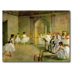 Edgar Degas - Hall of the Opera Ballet in the Rue Post Cards