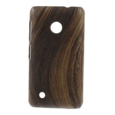 Javu - Nokia Lumia 530 Hoesje - Back Case Hard Houtprint Donker | Shop4Hoesjes