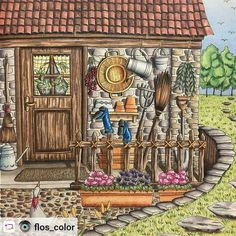 "#Rensta #Repost: @flos_color via @renstapp ··· "" #romanticcountry #colourpencils #colorful #colour #colors #colouring #colouringforadults #coloriage #coloriagepouradulte #coloriageantistress #adultcoloringbook #arttherapie #prismacolor #mycreativeescape #boracolorirtop #desenhoscolorir #colorir #house # """