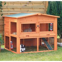 Trixie's Rabbit Hutch with Attic... How cool is this!