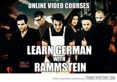 Learn German with Rammstein - LOL!