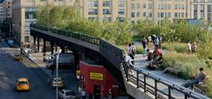The High Line.  10 city blocks in New York. By James Corner Field Operations