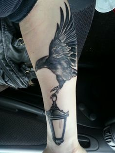 Raven and lantern tattoo done by lee ogorman. Not finished yet.