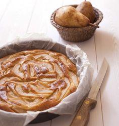 Photo de la recette : Gâteau au yaourt, poires et amande