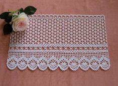 Hand Knitting Women's Sweaters Crochet Boarders, Crochet Lace Edging, Crochet Cross, Crochet Art, Crochet Home, Thread Crochet, Filet Crochet, Crochet Doilies, Crochet Stitches