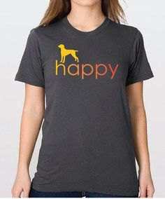 Happy! Our standard unisex t-shirt is the softest, smoothest, best-looking short sleeve tee available anywhere. Unisex size.Made in America of fine-gauge, preshrunk combed cotton.