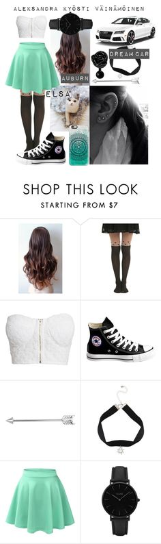 """Ouran HighSchool Host Club : [OC] Aleksandra : Outfit No. 1"" by fandoms-life ❤ liked on Polyvore featuring NLY Trend, Converse, LE3NO, CLUSE and Casetify"