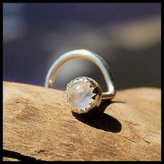 Moonstone nose ring