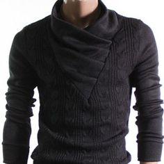 Braided Turtleneck Sweater,