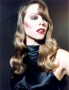 """ The Lady is a Vamp "" US VOGUE December 1994 Photographer: Steven Meisel Model: Mariah Carey (age 24) Fashion Editor: Camilla Nickerson Hair: Garren Make-up: Francois Nars Mariah Carey Vogue Photoshoot 1994"