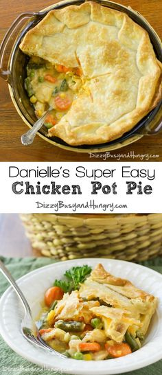 Danielle's Super Easy Chicken Pot Pie - This creamy, delicious family meal is quick and easy and the kids love it! Meals Everyone Loves, Cooking Recipes, Healthy Recipes, Crockpot Recipes, Vegetarian Recipes, Casseroles Healthy, Yummy Recipes, Healthy Food, So Little Time
