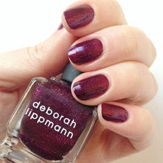 2014 Color of the Year-inspired mani by Deborah Lippman. Shade used: Good Girl Gone Bad