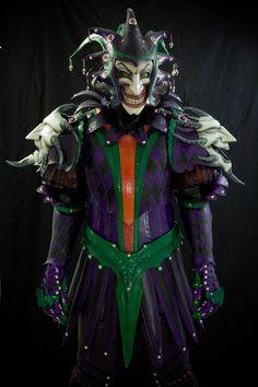 Medieval Joker Leather Armor byPrince Armory  Functional hardened leather full body armor including:  Jester's Helmet with Joker Mask, Brea...