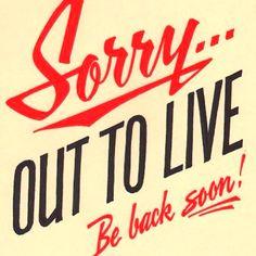 Be back soon!