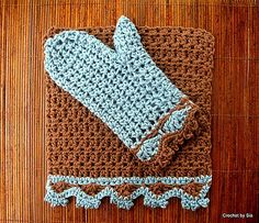 Ravelry: Luxe Bath Collection: Washcloth and Bath Mitt pattern by Sia Karamalegos