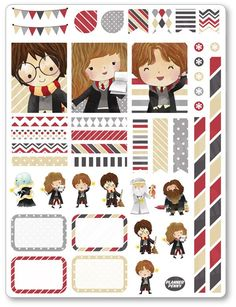 Wizard Friends Decorating Kit PDF PRINTABLE Planner Stickers