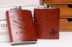 Groomsman flask groomsmen gift wedding groomsmen by MarkGroomGift