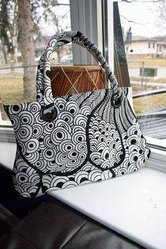 zentangle fabric bag!