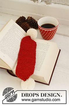 """Ravelry: 0-805 Bookmark for Christmas in """"Alaska"""" pattern by DROPS design"""